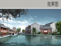古典建筑水景效果图 JPG
