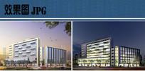 酒店建筑设计效果图 JPG