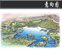 某生态公园生态公园区鸟瞰图