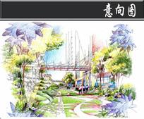 南京某商业中心小道手绘图