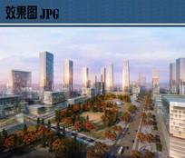 商业区景观效果图 JPG