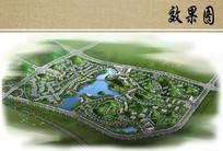 商业住宅景观规划总体鸟瞰图
