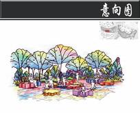 重庆儿童公园拼图区手绘图