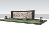 中式花坛景墙图片