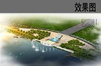 滨水喷泉舞台效果图
