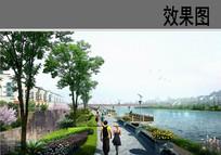 滨水游步道透视效果图 JPG