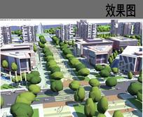 城市商业街景观设计鸟瞰图 JPG