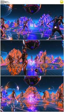 动感星球舞蹈背景视频素材