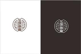 复古中式花纹五味家宴LOGO