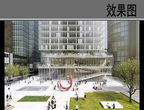 高层建筑公共空间设计效果图