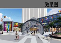 购物广场廊架效果图 JPG