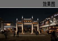 古商业街牌坊设计效果 JPG