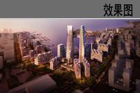 豪华海景酒店设计鸟瞰图