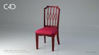 红铜椅子C4D椅子模型