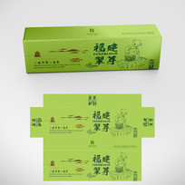 简约高档翠绿色绿茶包装设计