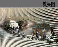 建筑观景阶梯效果图