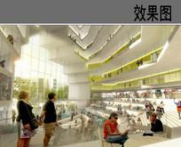 商场内部空间效果图
