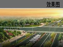 十字路口景观鸟瞰效果图 JPG