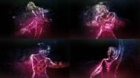 舞蹈粒背景子视频