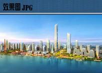 滨江区城市规划效果图