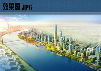 滨江新城规划鸟瞰图