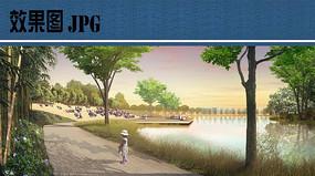滨水竹林效果图图片