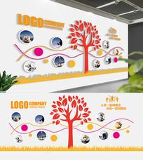 大气企业照片树展板