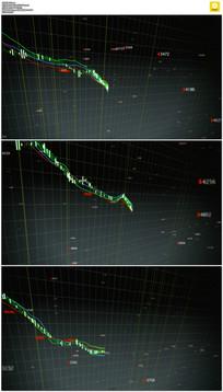 股票下跌背景视频素材