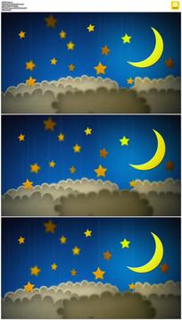 卡通星星月亮背景视频