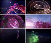 酷炫特效三维人物舞蹈背景视频