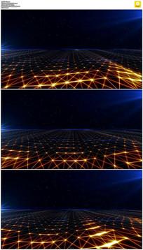粒子光芒海洋星空背景视频