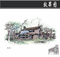 农业生态园规划小别墅建筑效果