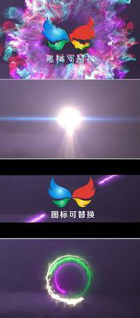 震撼冲击波logo演绎模板