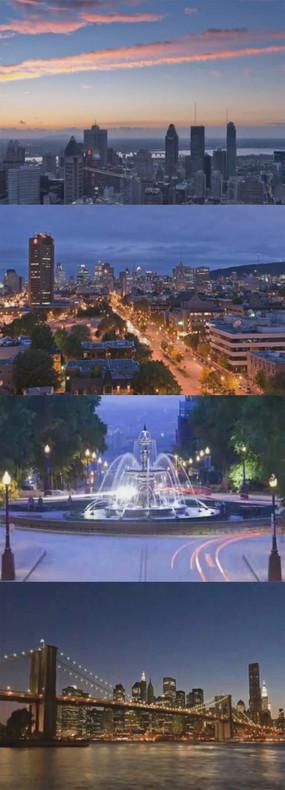 城市美景视频素材