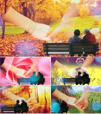 歌曲牵手舞台背景视频