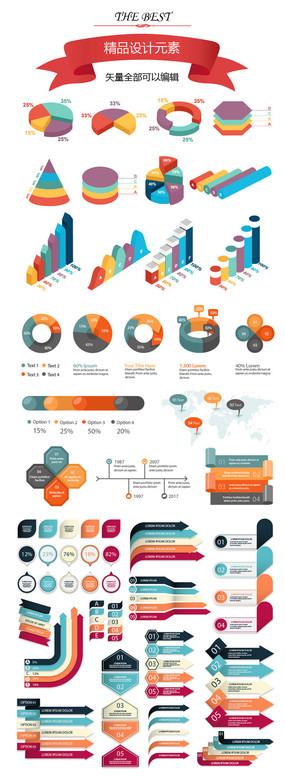 透视统计数据信息图