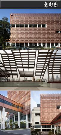 2字型铜片拼接创意建筑意向图 JPG