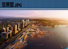 滨江景观设计鸟瞰图
