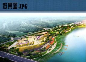 滨水广场景观鸟瞰图