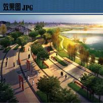 滨水节点广场效果图