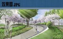 步道景观效果图