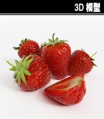草莓3D模型