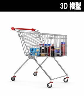 超市购物车3D模型