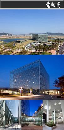 创意网状玻璃建筑意向图 JPG