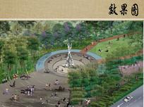 雕塑广场效果图 JPG