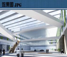 公司总部室内大厅效果图 JPG