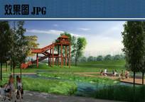 公园观景台效果图