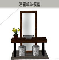 古典木质洗漱桌椅