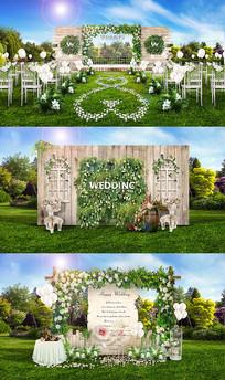 韩式户外主题婚礼PSD设计