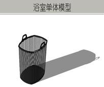 黑色镂空网垃圾桶